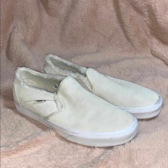 Vans Shoes | Vans Suede Fuzzy Slip On